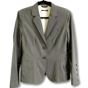 HUGO BOSS Cotton Blend Two Button Grey Blazer 12